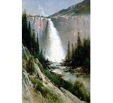iCanvas Bridal Veil Falls, Yosemite by Thomas Hill Canvas Print