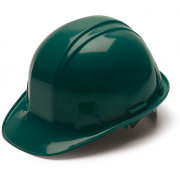 Pyramex Cap Style 4 Point Ratchet Suspension Hard Hat - Green