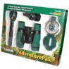 Carson AdventurePak Binocular, Compass, Flashlight, Whistle, Thermometer, Green HU-401