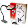Carson MagniFlex LED Lighted Flexible Magnifier w/ Table Clamp and Power Adapter CL-65