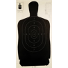 Champion Traps and Targets Black Police Silhouette Target, Pack of 100 - 40727