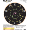 Champion Traps and Targets VisiColor Dartboard High-Visibility Paper Targets - 45825