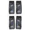DeSantis Black - Basketweave - Belt Keepers (Pack of 4) - Brass Snap U01BLG1Z2