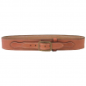 DeSantis Style B37 Desperado Gun Belt - Suede-Lined Leather Belt w/ Cartridge Loops