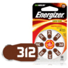 Energizer EZ Turn & Lock Hearing Aid Batteries, Size 312