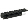 Leapers Weaver/Picatinny Tactical Rail Adaptor for .22/Airgun Rifles - 100mm Long, 9 Slots MNT-PMTOWL