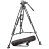 Manfrotto Professional Fluid Video System w/ Aluminum Mid Spreader