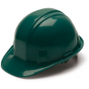 Pyramex Cap Style 4 Point Ratchet Suspension Hard Hat - Green HP14135, Pack of 16