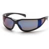 Pyramex Exeter Safety Glasses - Blue Mirror Anti-Fog Lens, Glossy Black Frame SB5175DT, Pack of 12