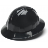 Pyramex Full Brim 4-Point Ratchet Suspension Hard Hat - Black HP24111