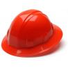 Pyramex Full Brim 4 Point Ratchet Suspension Hard Hat - Hi Vis Orange