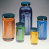 Qorpak Bottle Beakers, Medium Rounds, Wide Mouth, Qorpak 7550 With Pulp/Vinyl-Lined Black Phenolic Cap