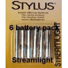 Streamlight Stylus AAAA Batteries - Replacement 1.5 Volt Alkaline battery 6 pack 65030 for Streamlight Stylus Flashlights & more